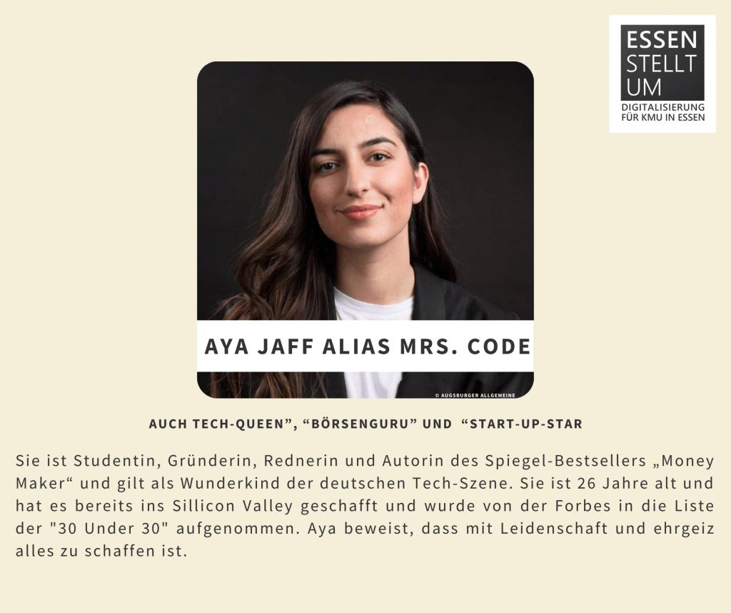 Aya Jaff Alias Mrs. Code